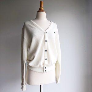 Vintage Ivory Izod Cardigan, size M